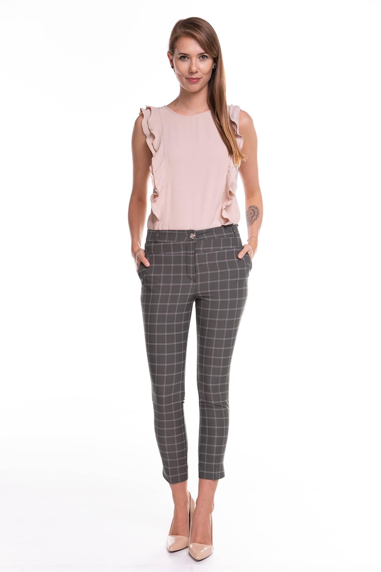 Spodnie Werona Green w kratke