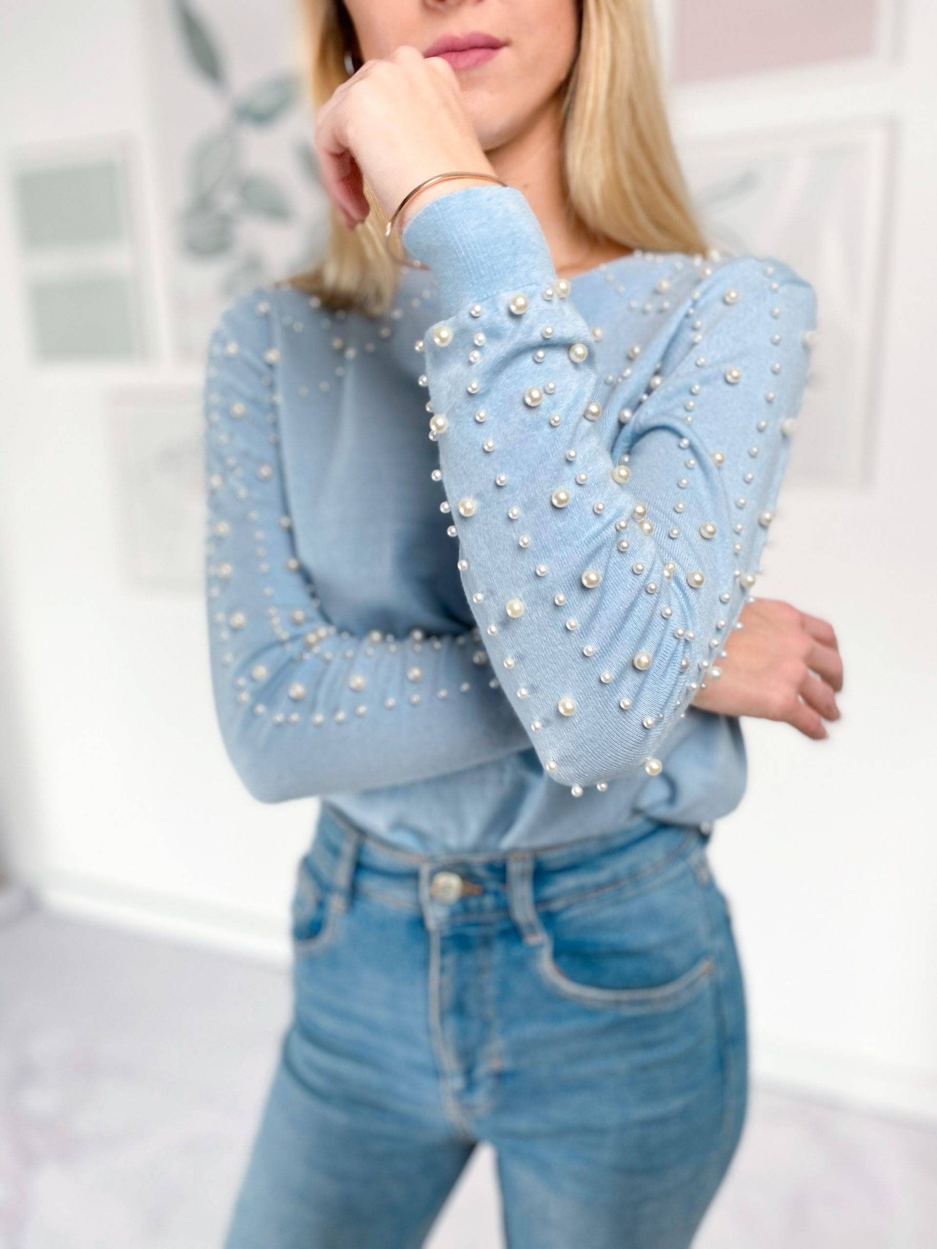 Sweter Coral Baby Blue